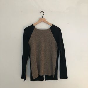 Philosophy cashmere Black and Tan sweater